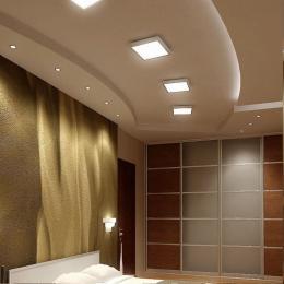 Plafón LED Superficie Cuadrado Blanco 30W 120º - Imagen 2