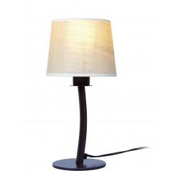 [GANTE_1L/MP] Lámpara de Mesa Gante E27 Ø18 Wengue Sin Bombilla - Imagen 1