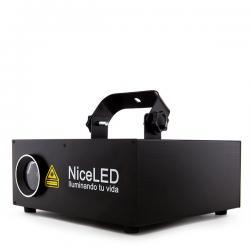 Efecto Laser RGB Animado 10Kpps 2 En 1 3D Ilda Rojo/Verde/Azúl/Blanco Mezcla (200 + 70 + 150Mw 450Nm)