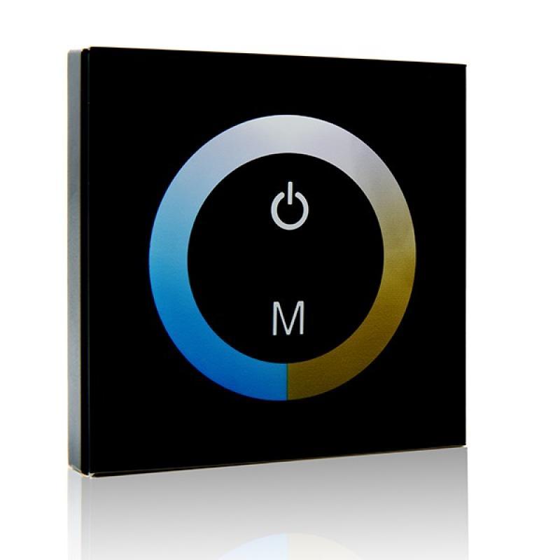 Controlador Empotrable Táctil Tira LED Duo (Blanco Frío-Cálido) 12-24VDC ► 144/288W - Imagen 1