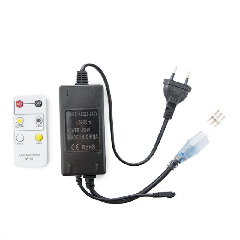Enchufe Controlador Tira LED 230VAC Frío/Cálido - Imagen 1