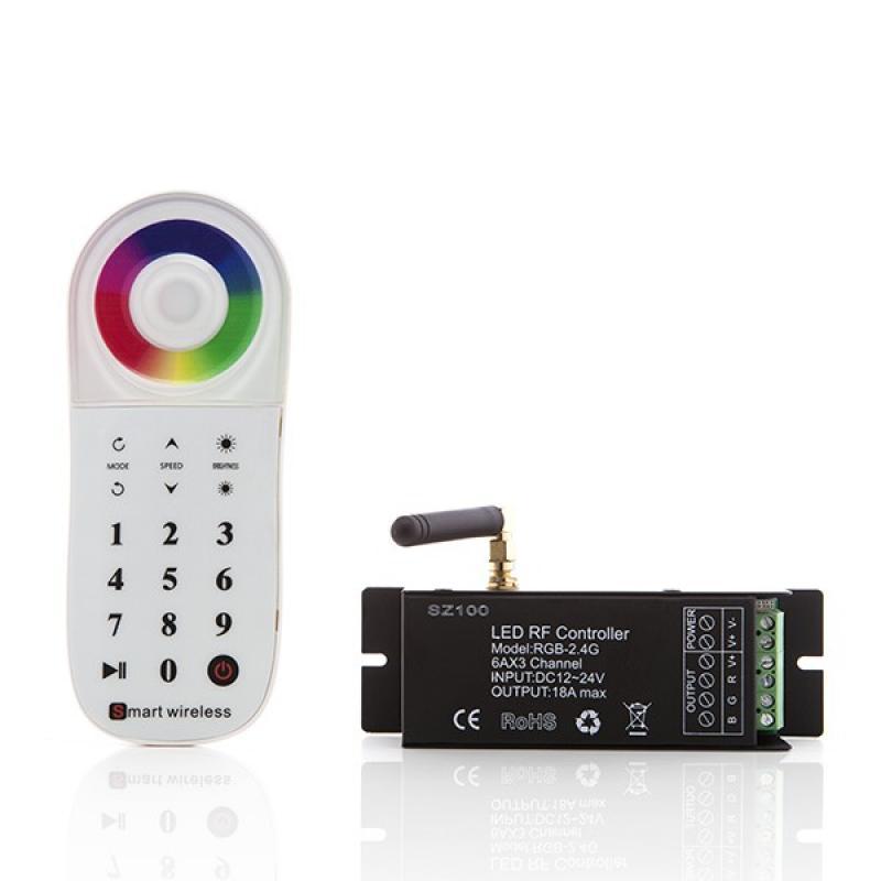 Controlador Multi-Zona 2,4G Tira LED RGB Mando a Distancia 12-24VDC ► 216/432W - Imagen 1