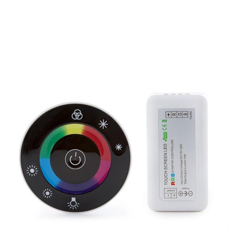 Controlador Rf Tira RGB Mando a Distancia Circular 12-24VDC ► 216/432W - Imagen 1