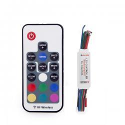 Controlador Mini Rf Tira RGB Mando a Distancia 5-24VDC ► 144W