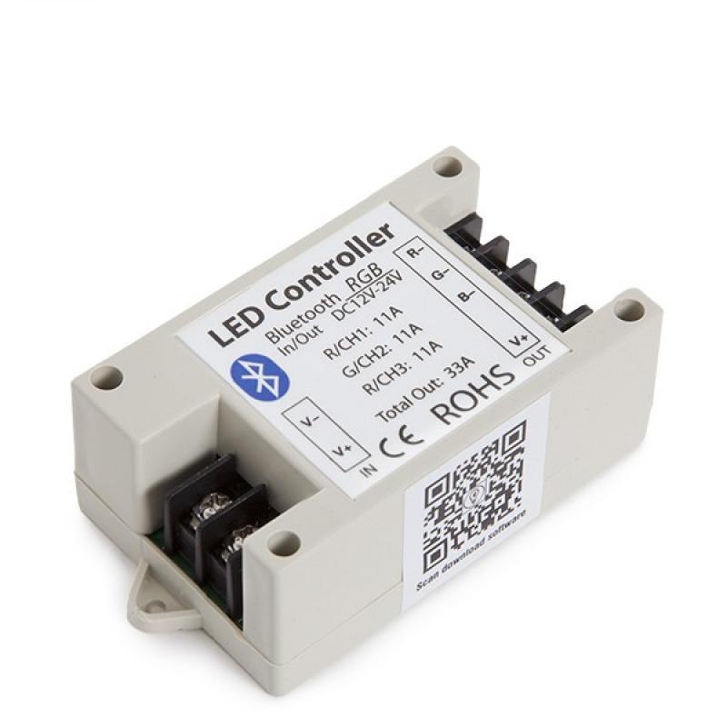 Controlador Tira LED RGB Bluetooth Smartphone 12-24VDC 400-800W - Imagen 1