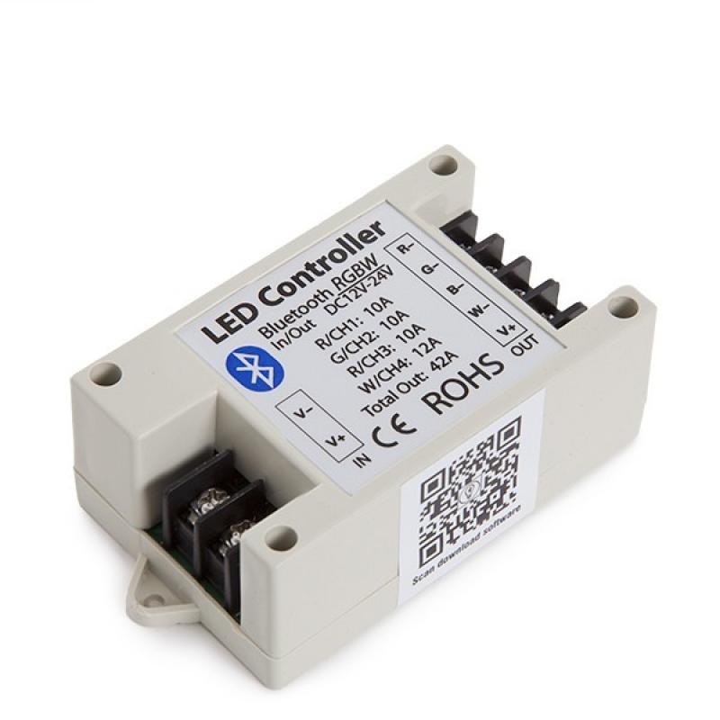 Controlador Tira LED RGBw Bluetooth Smartphone 12-24VDC 500-1000W - Imagen 1