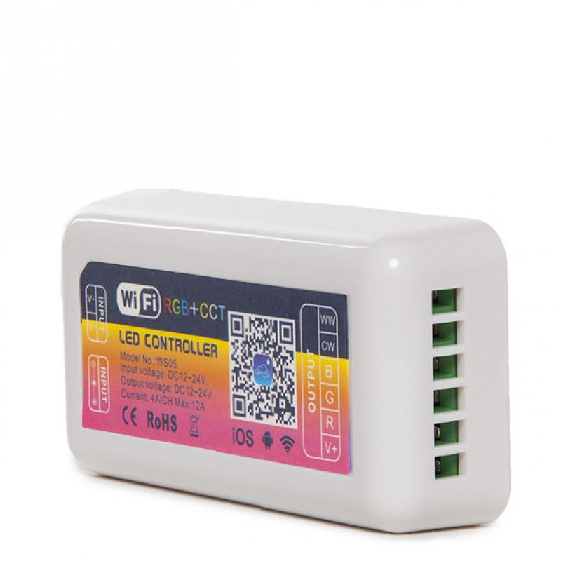 Controlador Wifi Tira LED RGB + Cct Compatible Alexa - Imagen 1