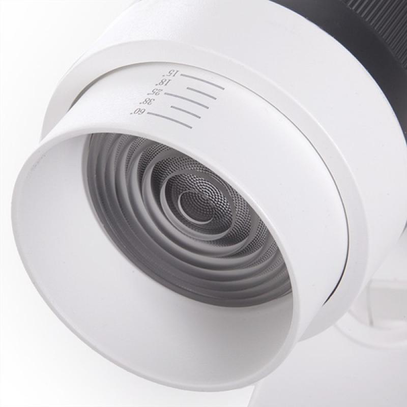 Foco Carril LED Monofásico Apertura Variable 10-60º 30W 2700Lm 50.000H Athena - Imagen 1