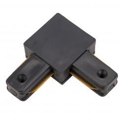 Conector 90º Carril Monofásico Negro - Imagen 1