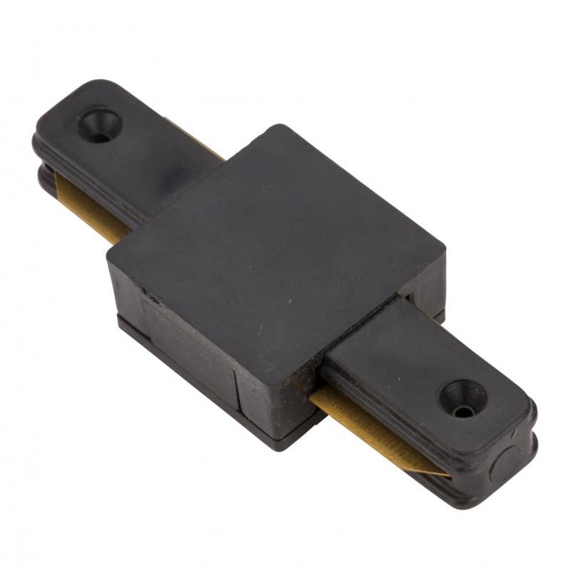Conector Recto Carril Monofásico Negro - Imagen 1