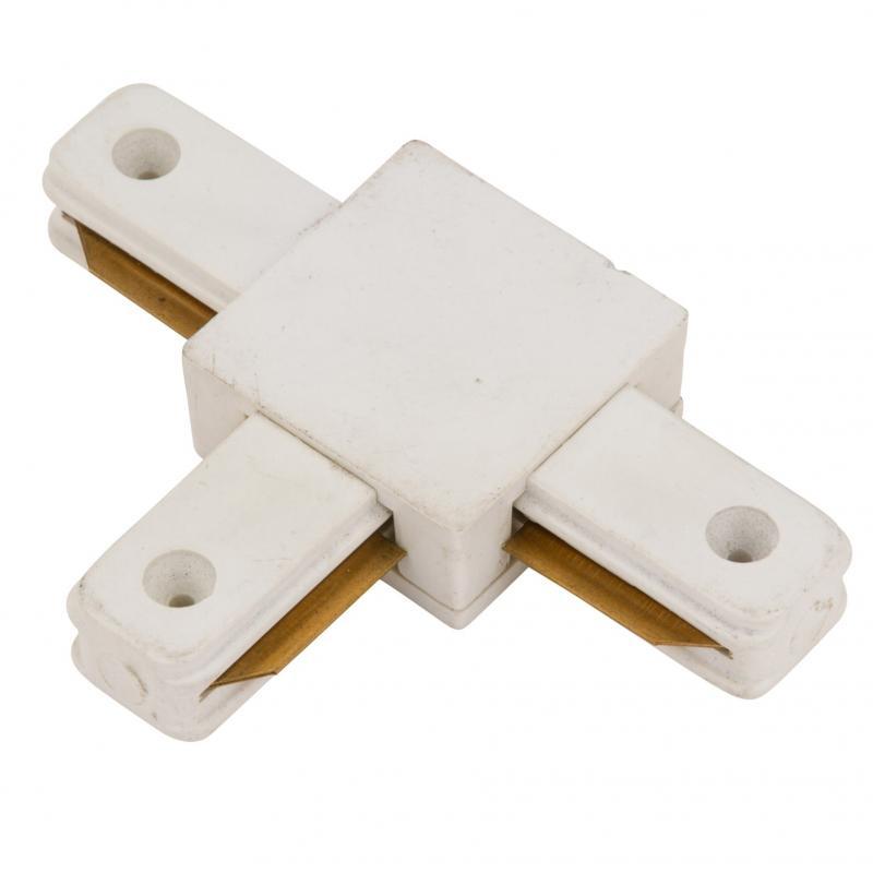 Conector T Carril Monofásico Blanco - Imagen 1