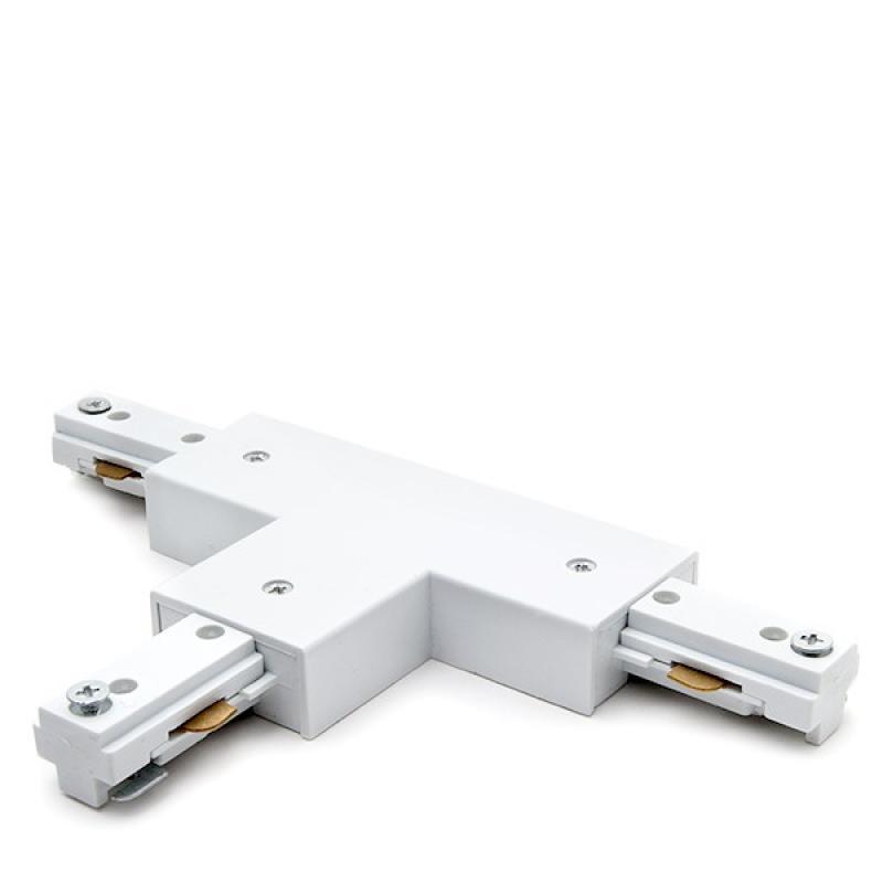 Conector T Carril Bifásico Blanco - Imagen 1