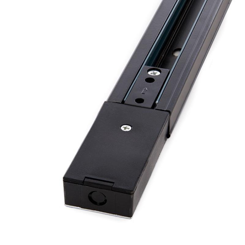 Carril Bifásico Focos LED 1M Negro - Imagen 1
