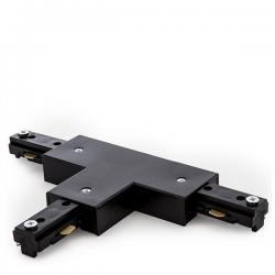 Conector T Carril Bifásico Negro - Imagen 1