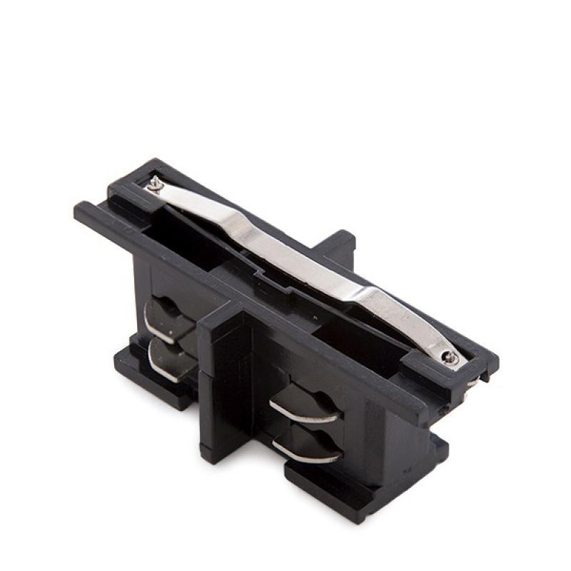Conector Recto Carril Trifásico Negro - Imagen 1