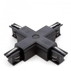 Conector + Carril Trifásico Negro - Imagen 1