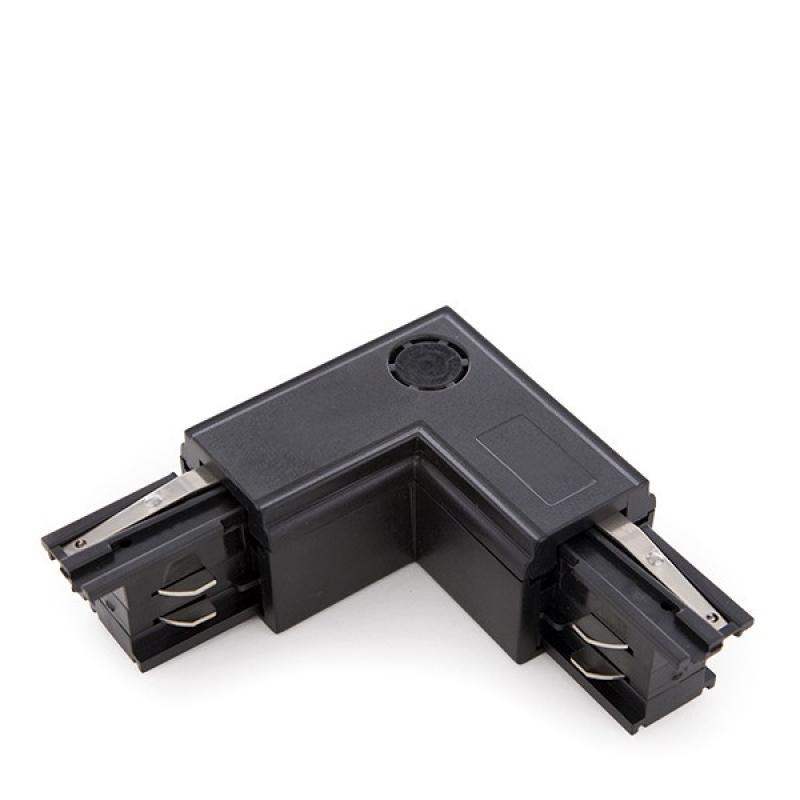 Conector L Carril Trifásico Negro - Imagen 1