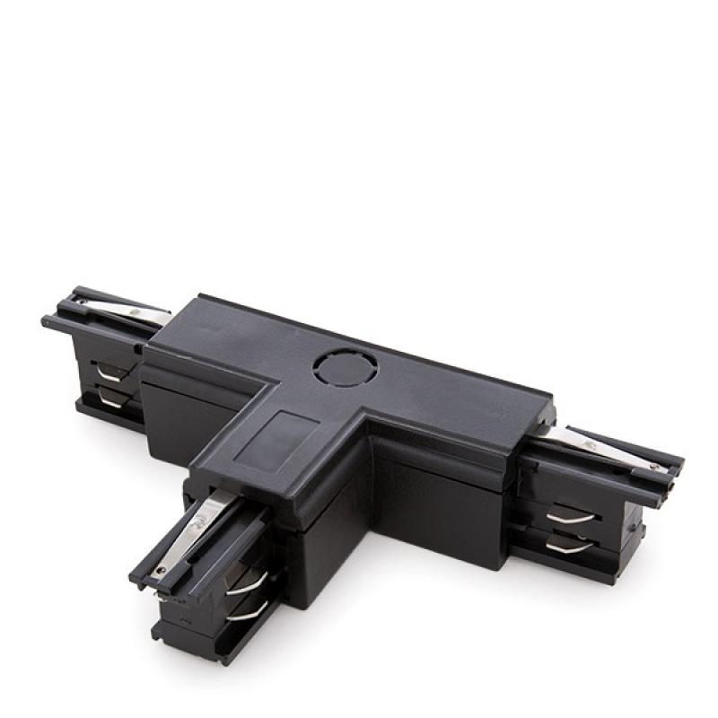 Conector T Carril Trifásico Negro - Imagen 1