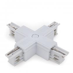 Conector + Carril Trifásico Blanco