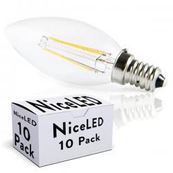 Lotes 10 Bombilla LED Filamento E14 4W 380Lm 30.000H - Imagen 1
