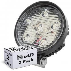 Lotes 2 Foco LED 18W 9-33VDC IP68 Automóviles/Náutica Blanco Frío