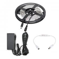 Tira LED 300 X SMD5050 12VDC 5M Rojo Transformador/Dimmer