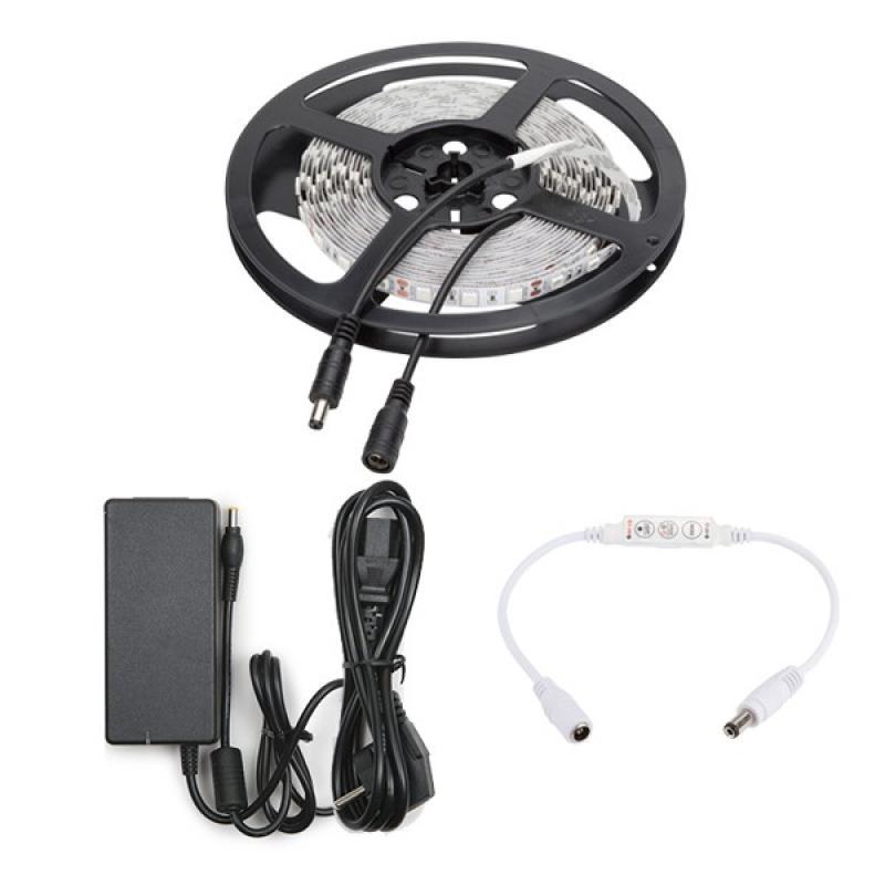 Tira LED 300 X SMD5050 12VDC 5M Amarillo Transformador/Dimmer - Imagen 1