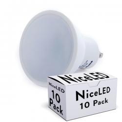 Lotes 10 Bombilla LED GU10 7W 520Lm 30.000H