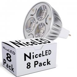 Lotes 8 Bombilla LED GU5,3 6W 550Lm 30.000H
