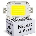 Lotes 4 LEDs High Power COB30 50W 5000Lm 50.000H