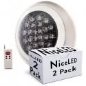 Lotes 2 Foco de Piscina LED Superficie Ø300Mm Multicolor Mando a Distancia 24W