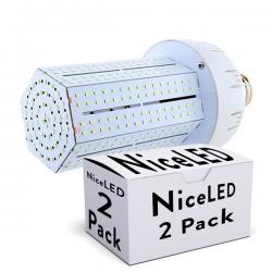 Lotes 2 Bombilla LED Alumbrado Público Brigelux 360º E40 80W 8800Lm 30.000H