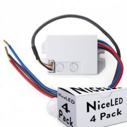 Lotes 4 Sensor Movimiento Empotrar Mini 140º ► 300W