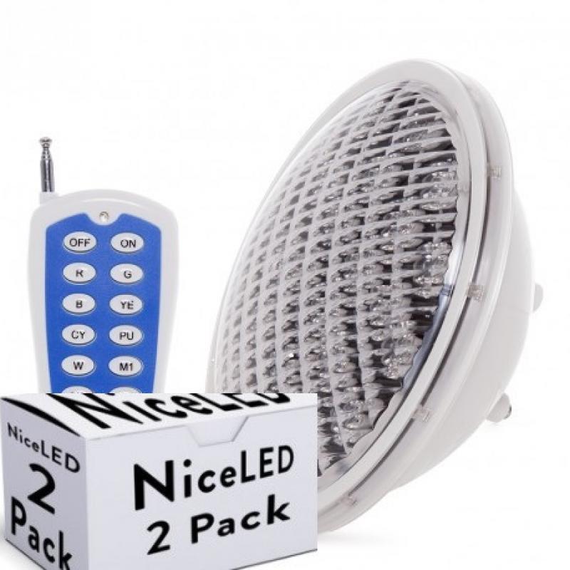 Lotes 2 Foco de Piscina LED Par 56 Multicolor Mando a Distancia 25W - Imagen 1