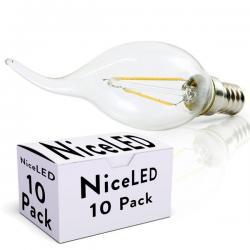 Lotes 10 Bombilla LED Filamento E14 4W 400Lm 30.000H - Imagen 1