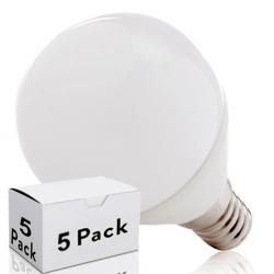 Lotes 5 Bombilla LED E14 2835SMD 7W 520Lm 30.000H