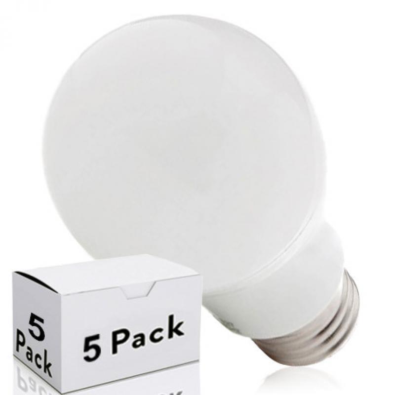 Lotes 5 Bombilla LED E27 Esférica Aluminio/Pc 5W 450Lm 30.000H - Imagen 1