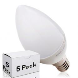 Lotes 5 Bombilla LED E14 Vela 2835SMD 5W 410Lm 30.000H