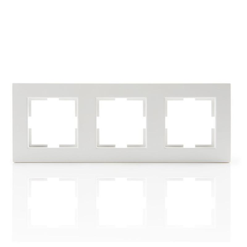 Marco 3 Elementos Panasonic Karre Horizontal/Vertical Tecnopolímero Blanco - Imagen 1