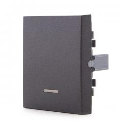 Tecla con Visor Panasonic Novella Interruptor, Conmutador, Fume (Compatible Karre)