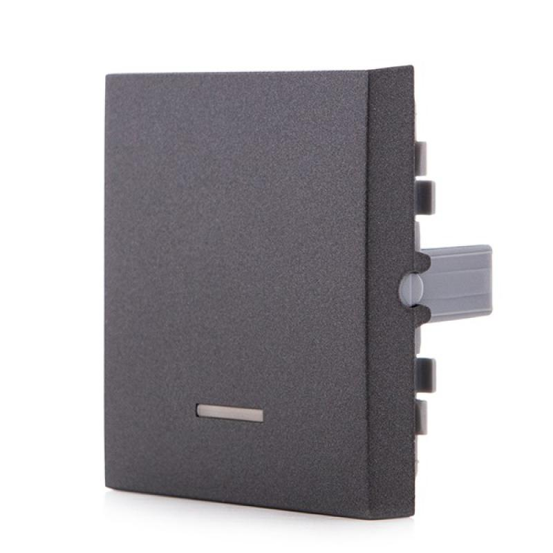 Tecla con Visor Panasonic Novella Interruptor, Conmutador, Fume (Compatible Karre) - Imagen 1