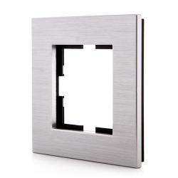 Marco Panasonic Novella 1 Elemento, Aluminio Eloxal Plata (Compatible Mecanismo Karre)