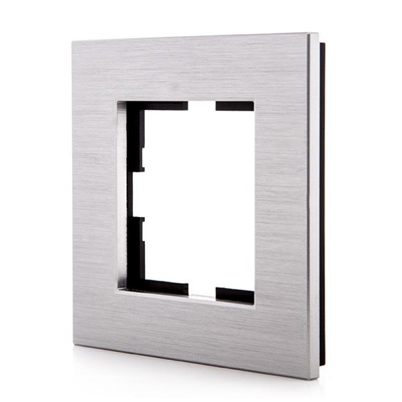 Marco Panasonic Novella 1 Elemento, Aluminio Eloxal Plata (Compatible Mecanismo Karre) - Imagen 1