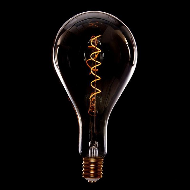 Bombilla Vintage LED Dimable Ps160 Broadway Vortice 4W E27 Vidrio Ámbar - Imagen 1
