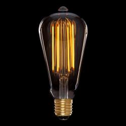 Bombilla Vintage LED Dimable St64 Edison Onda 4W E27 Vidrio Ámbar