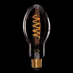 Bombilla Vintage LED Dimable Br75 Hipster Vortice 4W E27 Vidrio Ámbar