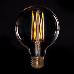 Bombilla Vintage LED Dimable G95 Globo Onda 4W E27 Vidrio Ámbar
