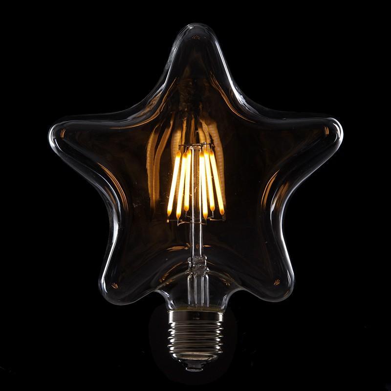 Bombilla Led Filamento Vintage Star E27 6W 600Lm - Imagen 1