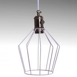 Lámpara Suspendida Lavanda Plata Oscura Portalámparas E27 Cable 5M Interruptor Rotativo Callie - Imagen 1