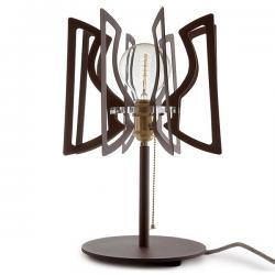Lámpara de Mesa Acero Abat Jour Interruptor Cadena - Imagen 1